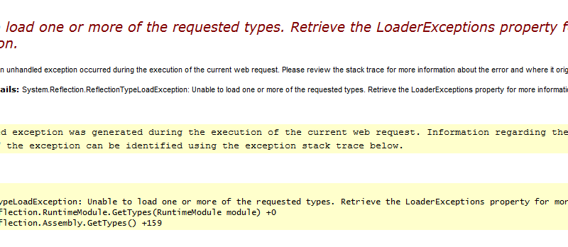 """Unable to load one or more of the requested types """"   grokgarble com"""